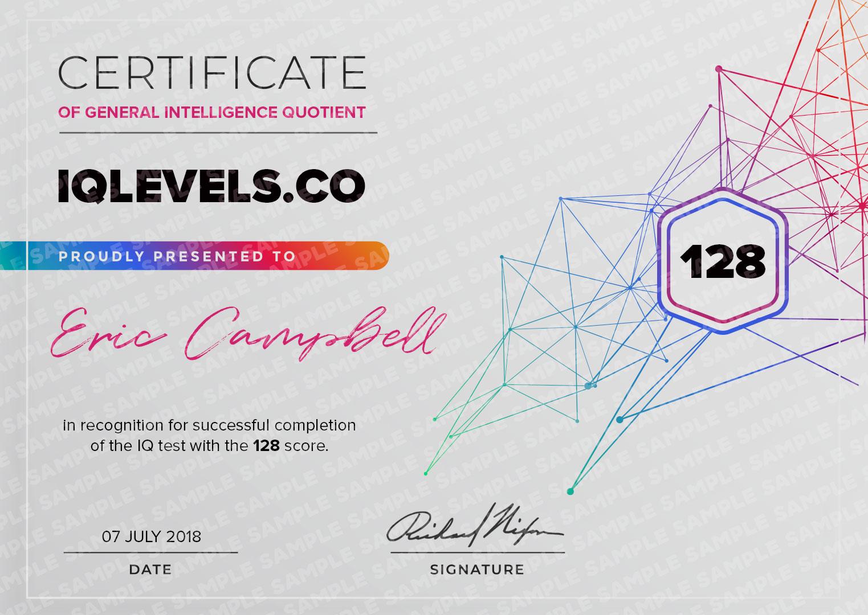 IQ Certificate 2